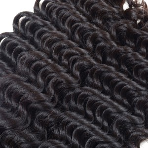 100% Virgin Hair Peruvian Hair Deep Wave No Tangling No Shedding