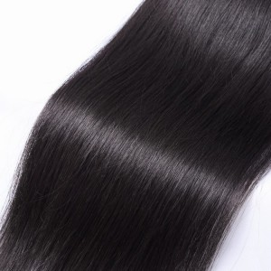 150% Density Customized Full Cuticle Aligned Hair 5x5 Straight Lace Closure Free Part