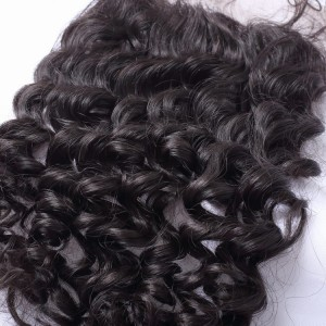 Hot Selling Unprocessed Virgin Deep Wave 5x5 Lace Closure Brazilian Hair On Sale