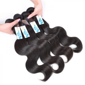 Hot Selling High Quality Body Wave Double Weft Virgin Malaysian Hair Extensions