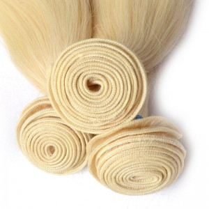 5A European Hair Straight 613# Blonde Color Hair 100 Percent Human Hair Full Cuticle