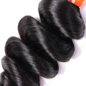 Direct Factory Price 5A Indian Hair Soft Double Drawn Human Hair Extensions Loose Wave