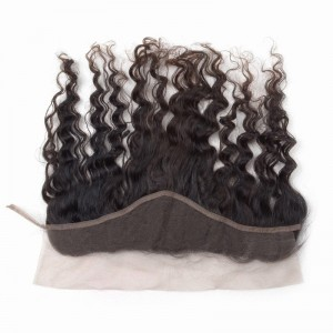Top Quality Virgin Brazilian Hair Lace Frontal Closure Deep Wave 13x3