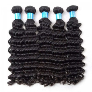 Brazilian Hair Deep Wave 7A Grade Can Be Dyed To Any Color And Restyle