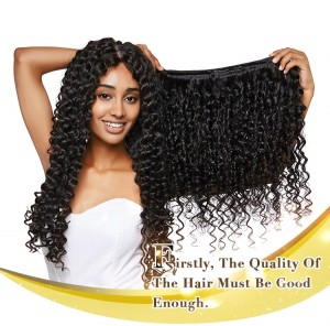 New Product Curly Hair Extension 100% Unprocessed Brazilian Virgin Hair