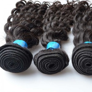 Wholesale Brazilian Unprocessed Raw Human Hair Weft Deep Wave