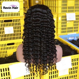 Brazilian Deep Wave Wigs Natural Hair Wigs Transparent HD Lace Front Wigs