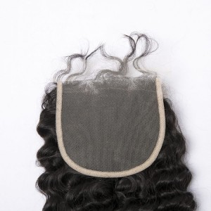 Cheap XR Deep Wave 5x5 Lace Closure Unprocessed Brazilian Human Hair